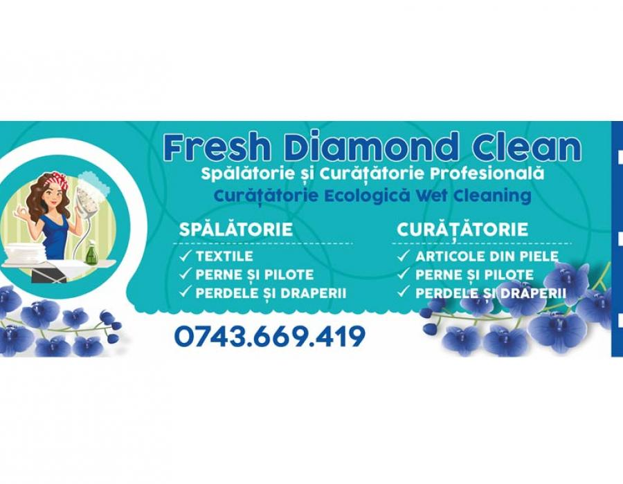 Banner spalatorie Diamond Fresh Clean