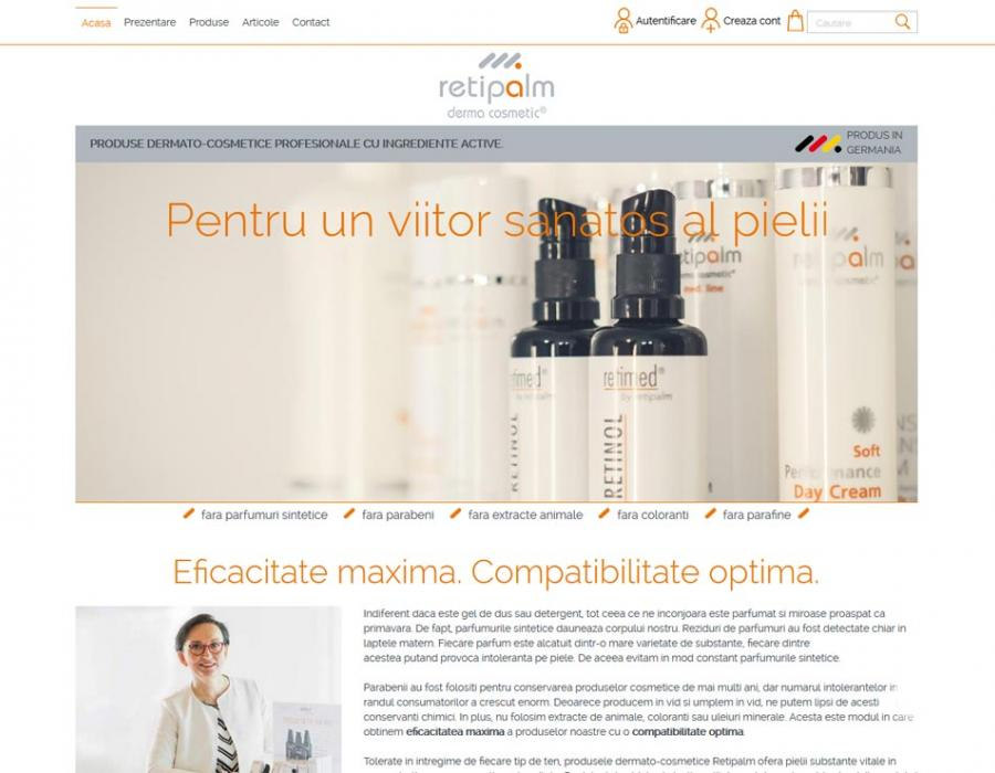 Retipalm Shop web design
